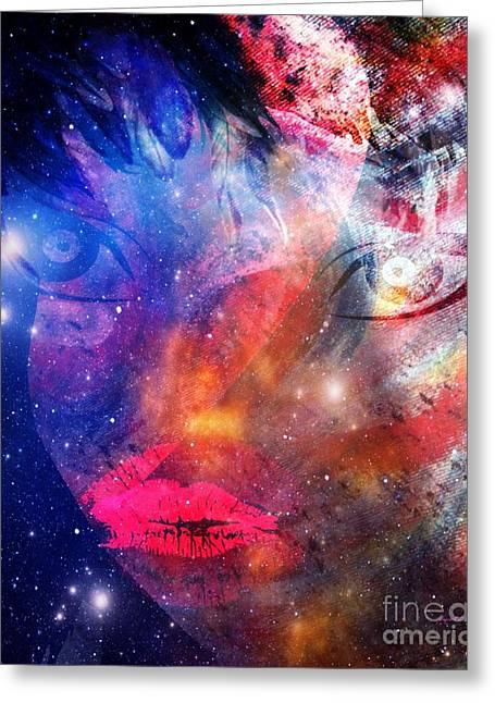 Between Me - Passion And Time Greeting Card by Fania Simon