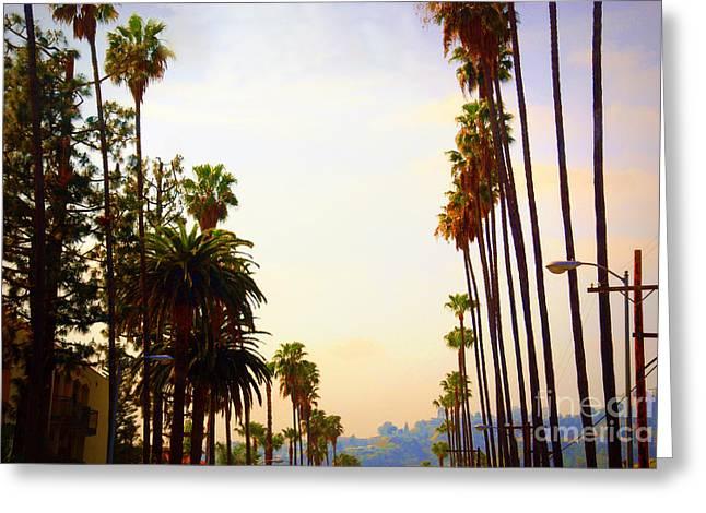 Beverly Hills In La Greeting Card by Susanne Van Hulst