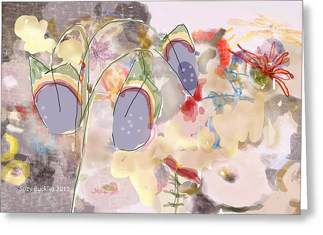 Bewitched Floral Painting By Suzy Buckles