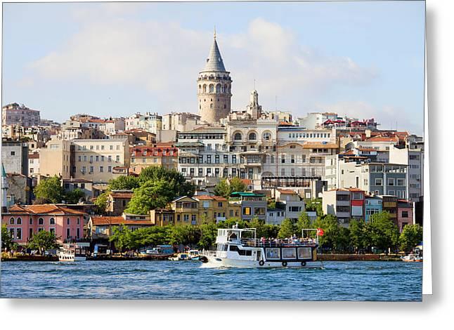 Beyoglu District In Istanbul Greeting Card