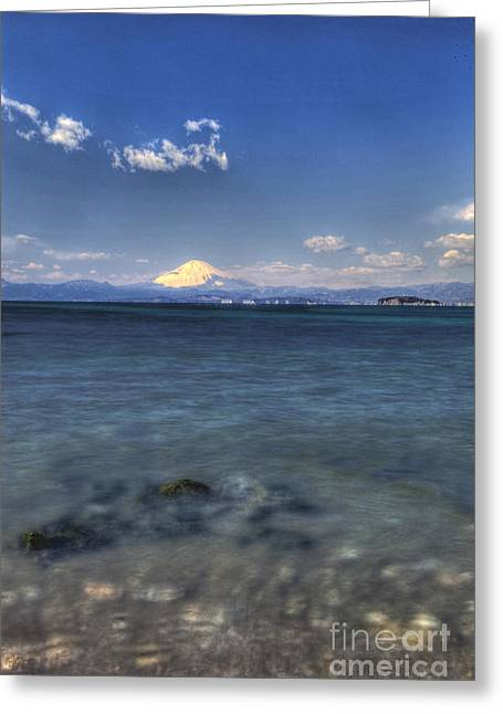 Greeting Card featuring the photograph Beyond Sea by Tad Kanazaki