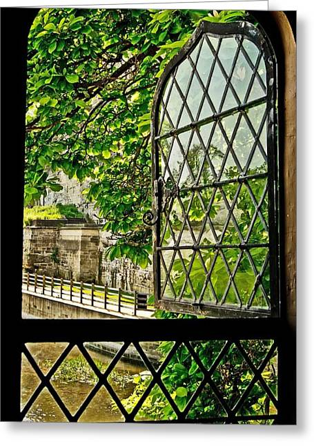 Beyond The Castle Window Greeting Card