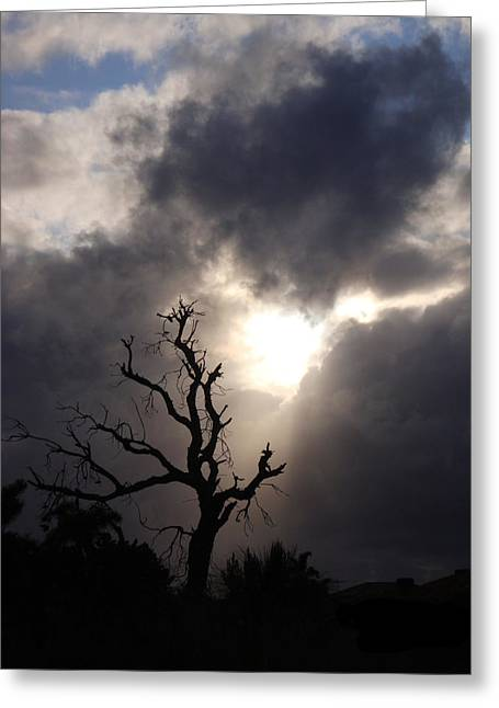 Beyond The Sun Greeting Card by Kelly Jones