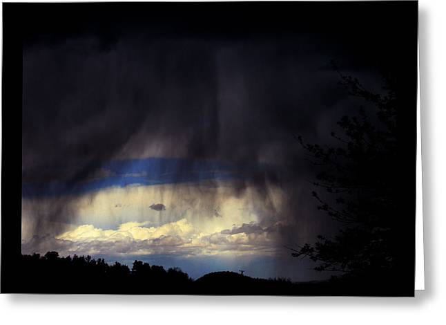 Greeting Card featuring the photograph Beyond The Veil by Susanne Still