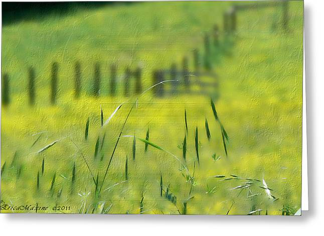 Greeting Card featuring the photograph Beyond The Weeds by EricaMaxine  Price