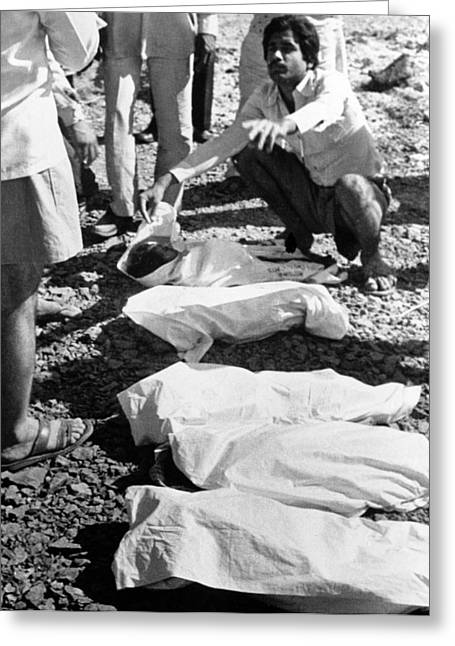 Bhopal Disaster Victims, India, 1984 Greeting Card by Ria Novosti
