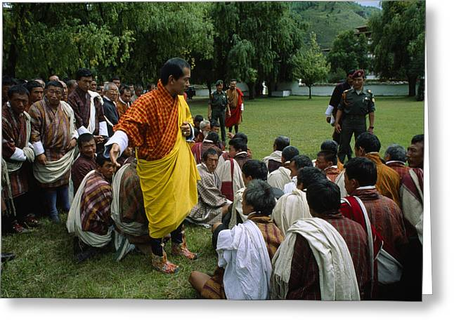 Bhutans King, Jigme Singye Wangchuck Greeting Card by James L. Stanfield