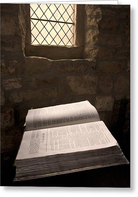 Bible In A Church, Rosedale, North Greeting Card by John Short