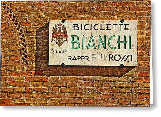 Biciclette Bianchi Greeting Card