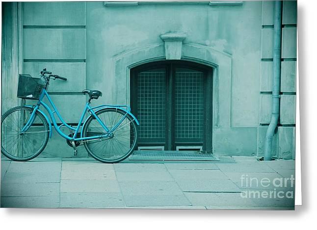 Bicycle Blues Greeting Card by Sophie Vigneault