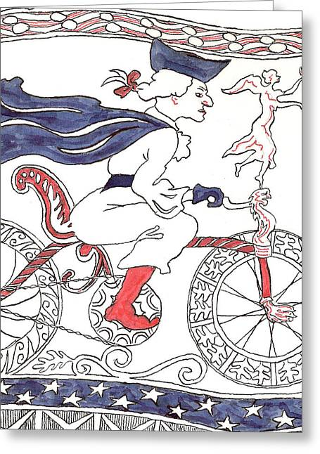 Bicycle Rider In France Greeting Card