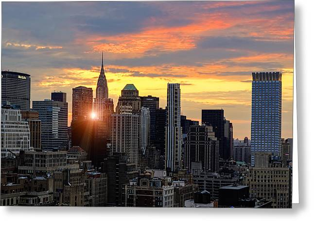 Big Apple Brilliance Greeting Card by Janet Fikar