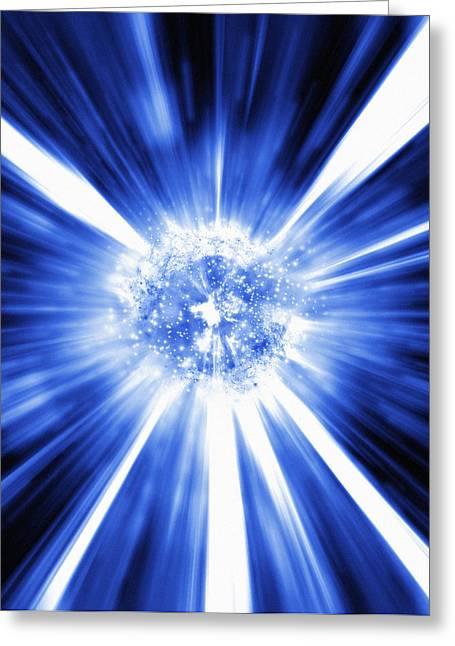 Big Bang, Conceptual Artwork Greeting Card by Mehau Kulyk