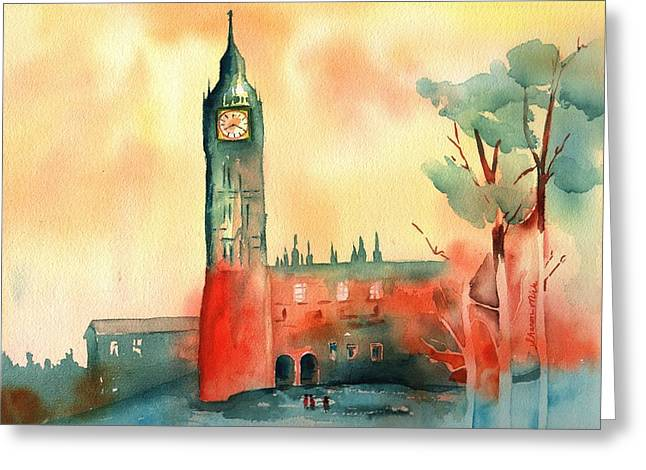 Big Ben    Elizabeth Tower Greeting Card by Sharon Mick