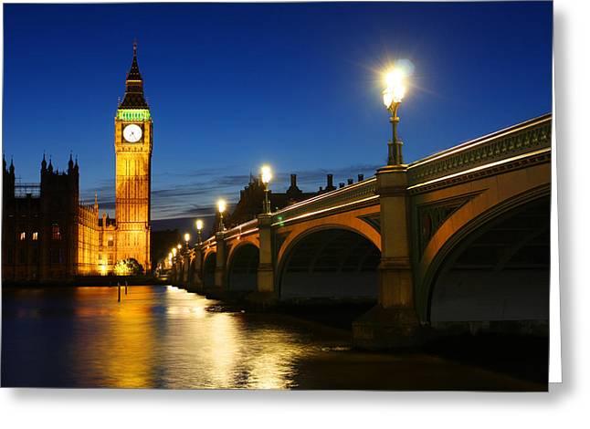 Big Ben And Westminster Bridge Greeting Card by Dan Breckwoldt