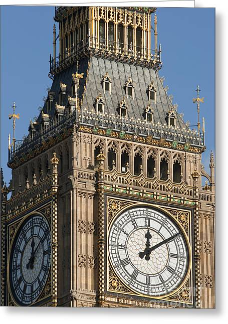 Big Ben Clock Tower Greeting Card by Andrew  Michael