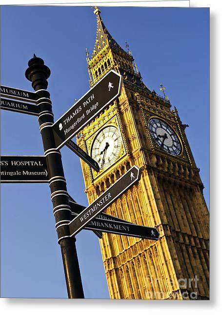 Big Ben Clock Tower Greeting Card by Elena Elisseeva