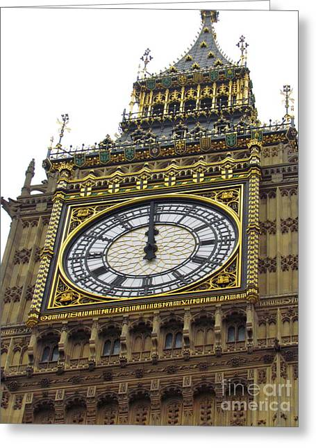 Greeting Card featuring the photograph Big Ben High Noon by Beth Saffer