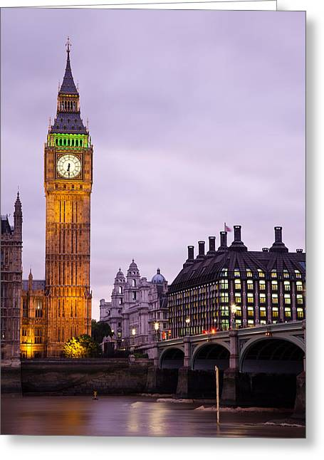 Big Ben In Twilight Greeting Card