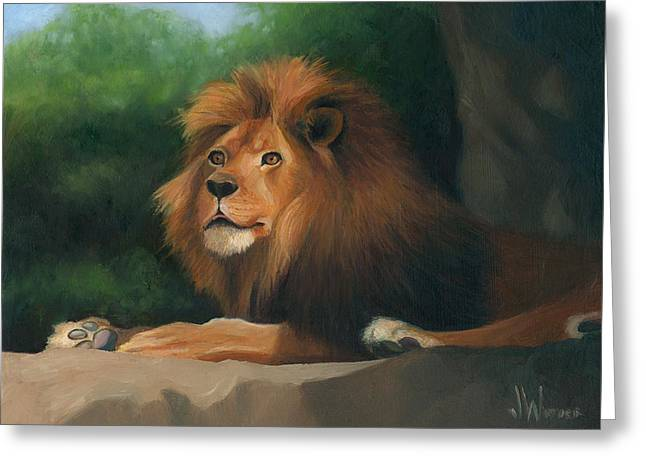 Greeting Card featuring the painting Big Cat by Joe Winkler