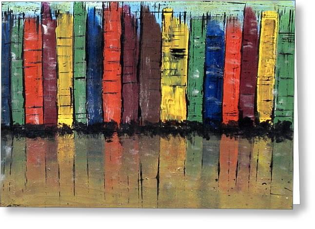 Big City Color Greeting Card by Kathy Sheeran