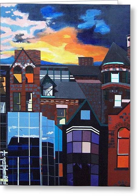 Big City Greeting Card by Krista Ouellette