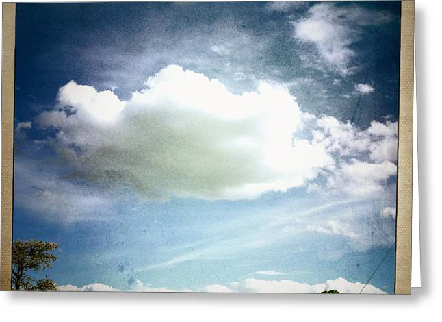 Greeting Card featuring the photograph Big Cloud by Paul Cutright