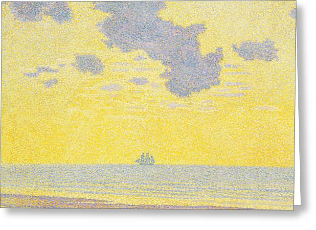 Big Clouds Greeting Card by Theo van Rysselberghe