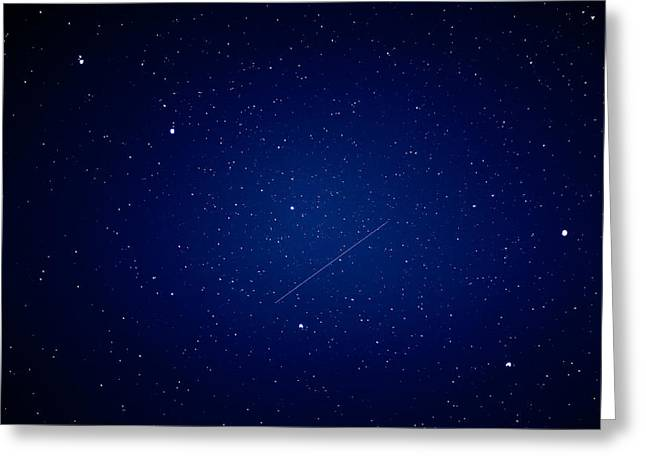 Greeting Card featuring the photograph Big Dipper And Iridium by Matti Ollikainen