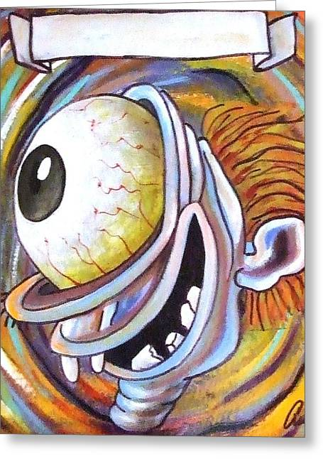 Big Eyed Guy 3 Greeting Card by Randy Segura