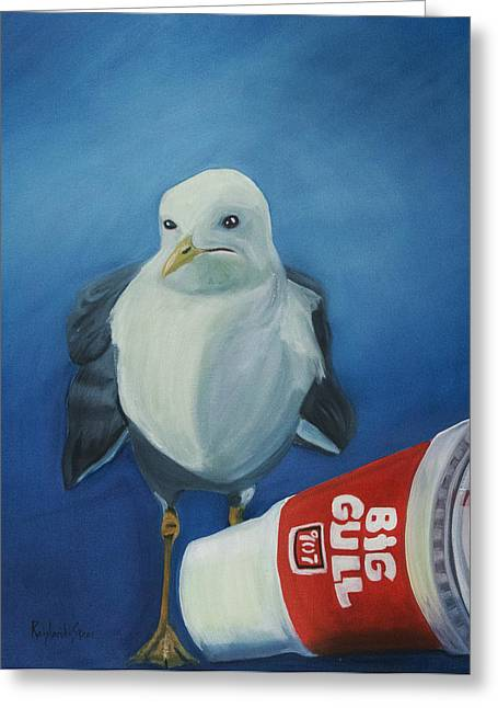 Big Gull Greeting Card by Amy Reisland-Speer