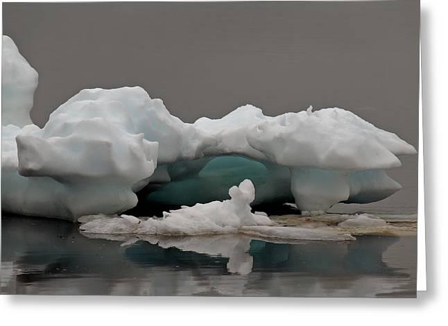 Big Ice Little Ice Greeting Card by Stan Wojtaszek