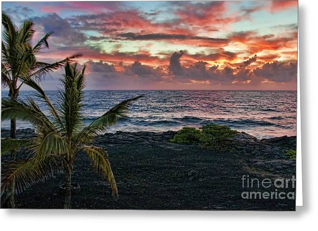 Big Island Sunrise Greeting Card