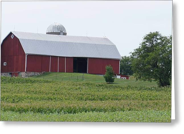 Greeting Card featuring the photograph Big Red Barn by Kristine Bogdanovich