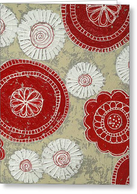 Big Red Flowers Greeting Card