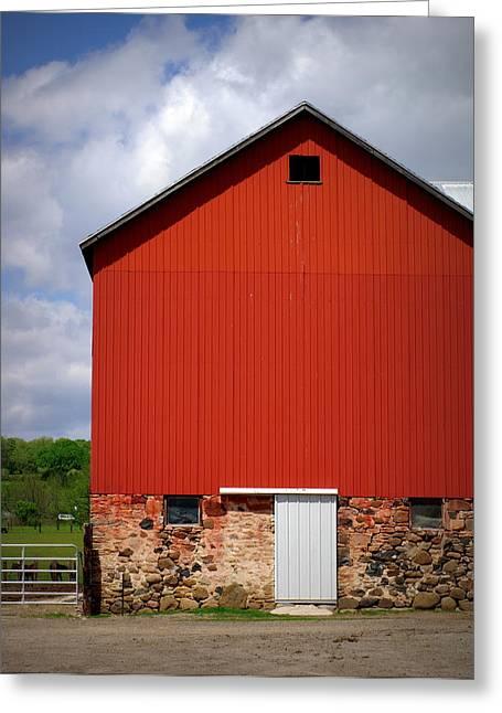 Big Red Greeting Card by Linda Mishler