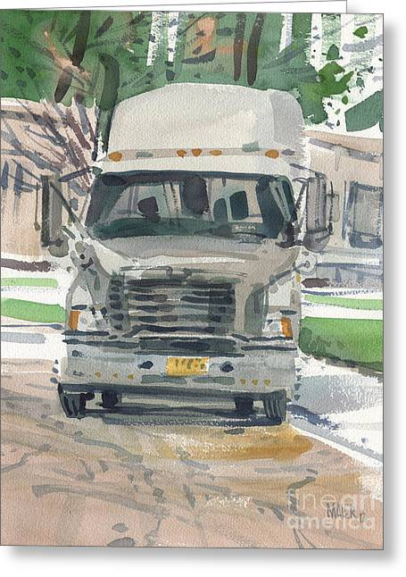 Big Rig Greeting Card by Donald Maier