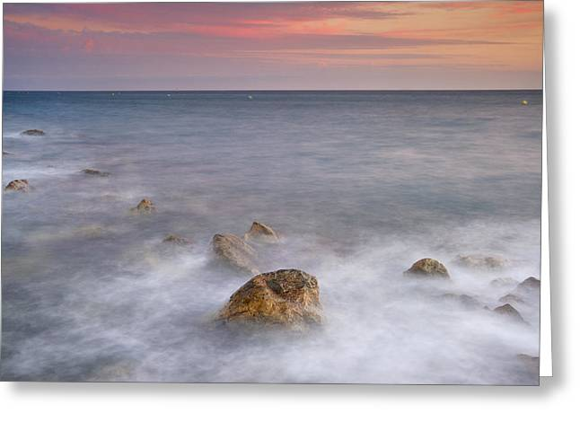 Big Rock Against The Waves Greeting Card by Guido Montanes Castillo