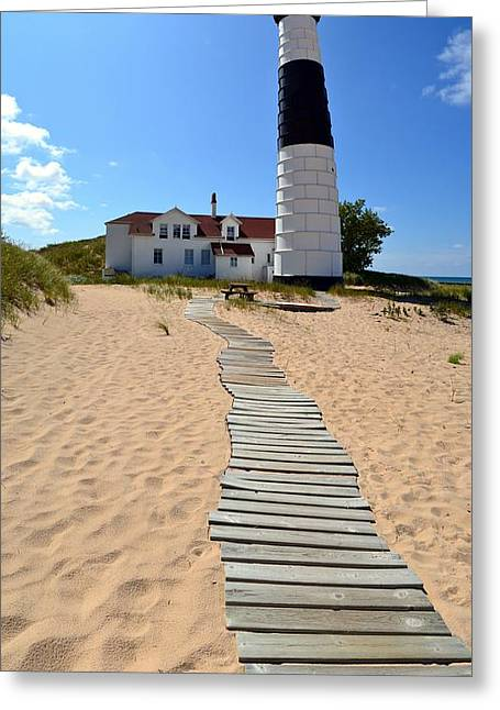 Big Sable Lighthouse At Ludington State Park Greeting Card