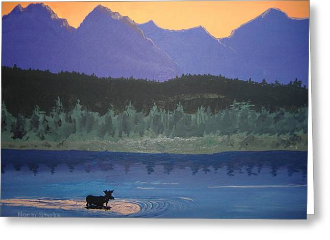 Greeting Card featuring the painting Big Sky Country by Norm Starks