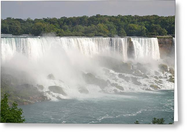 Big Waterfall Greeting Card by Naomi Berhane