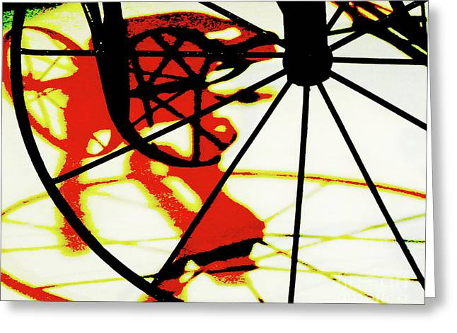 Greeting Card featuring the photograph Big Wheel by Newel Hunter