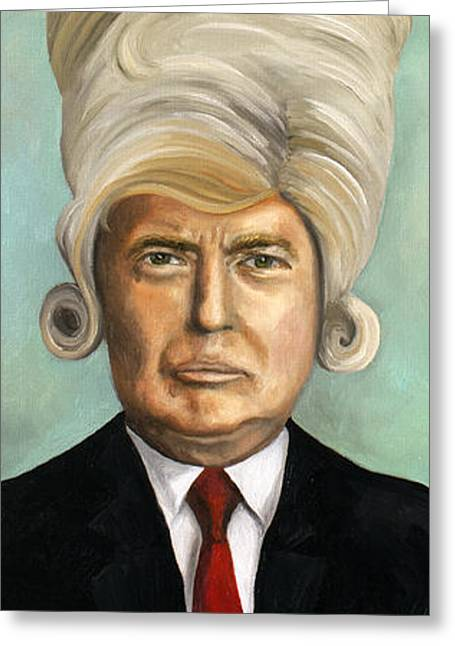 Big Wig Greeting Card by Leah Saulnier The Painting Maniac