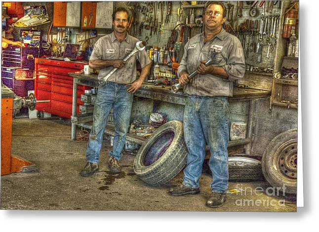 Big Wrenches Greeting Card by William Fields