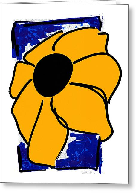 Big Yellow Flower Greeting Card