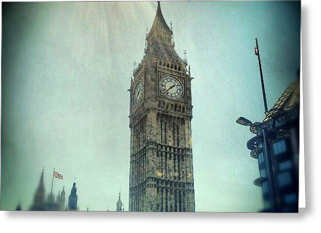 #bigben #uk #england #london #londoneye Greeting Card