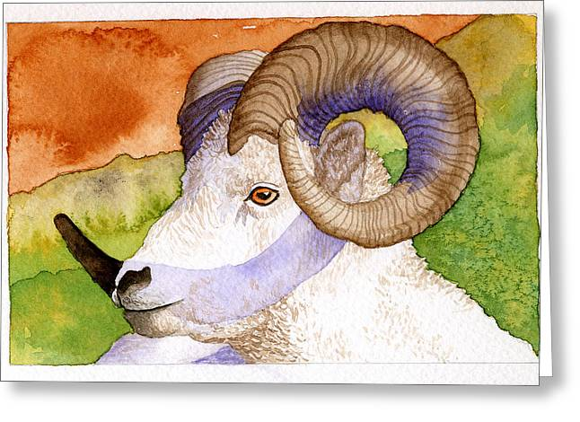 Bighorn Greeting Card by Eunice Olson