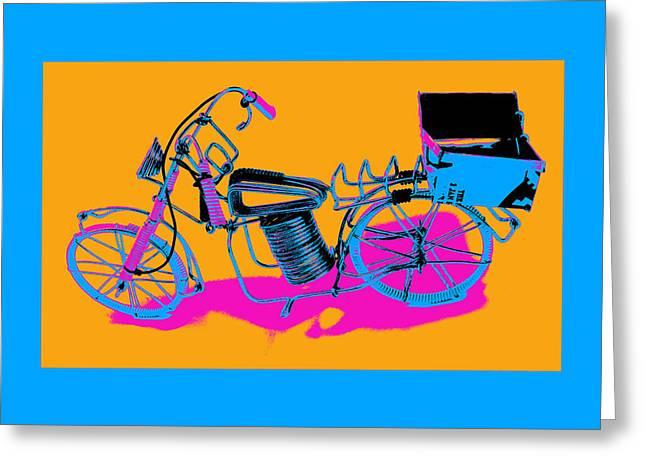 Bike-2c Greeting Card by Mauro Celotti
