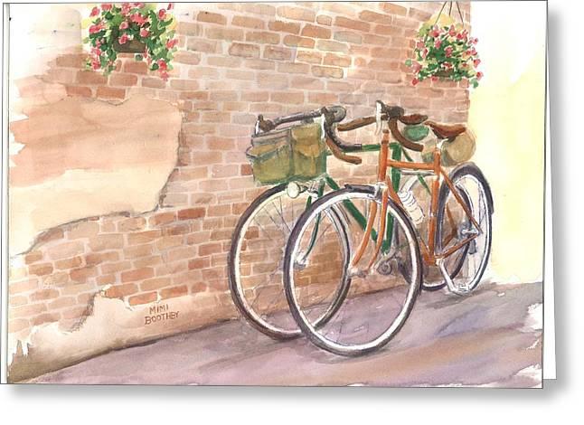 Bike Date Two Greeting Card
