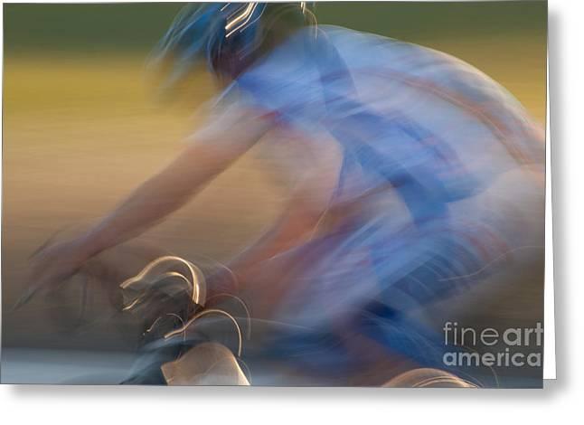 Bike Race 2 Greeting Card by Catherine Lau